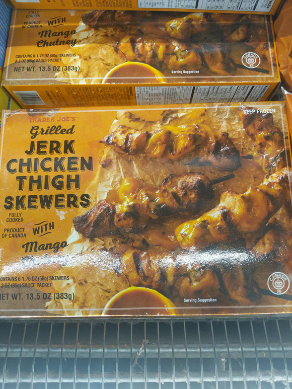 Trader Joe's Grilled Jerk Chicken Skewers with Mango Chutney (Frozen)