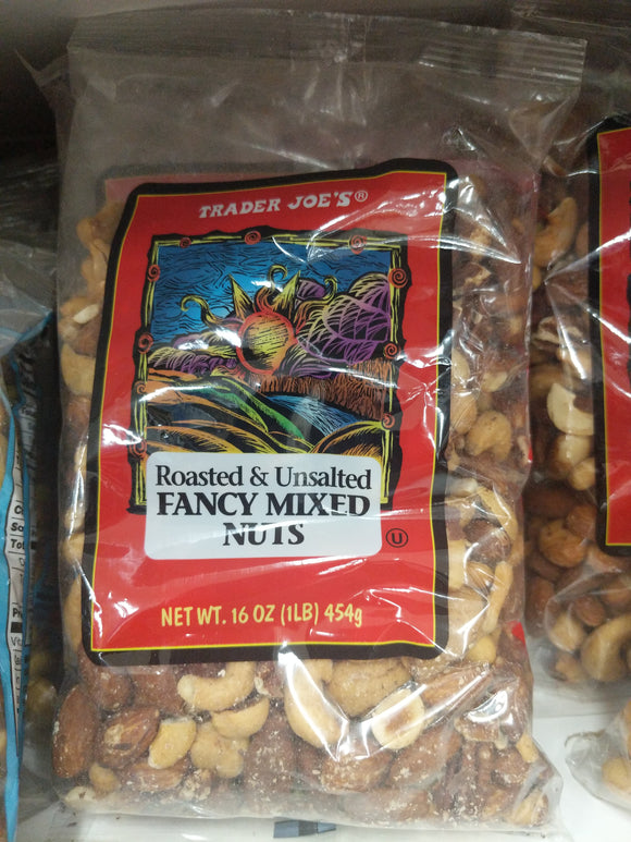 Trader Joe's Unsalted Fancy Mixed Nuts