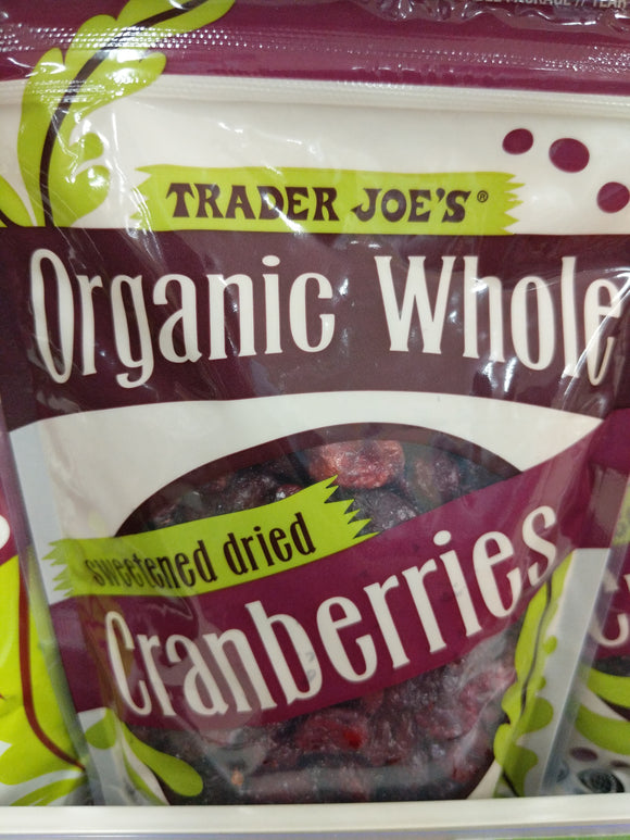 Trader Joe's Organic Dried Cranberries