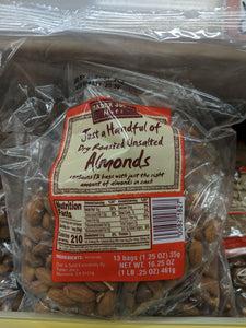 Trader Joe's Just a Handful of Dry Roasted, Unsalted Almonds