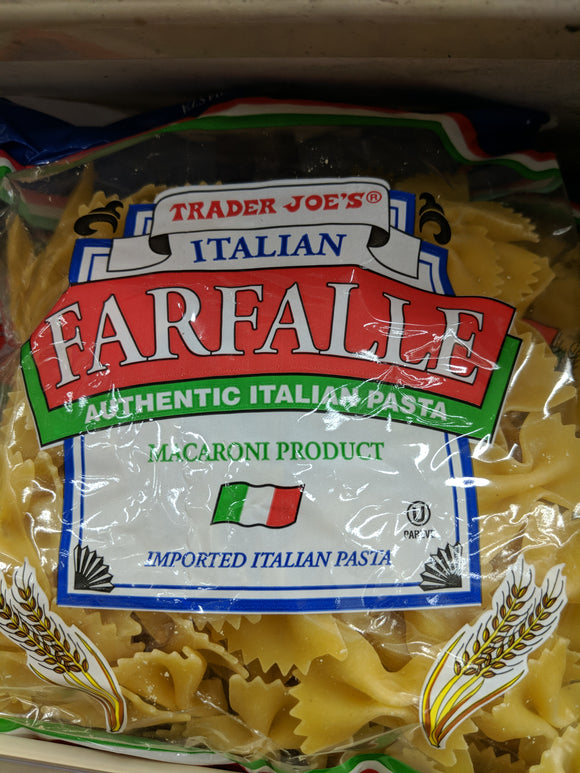 Trader Joe's Farfalle Authentic Italian Pasta