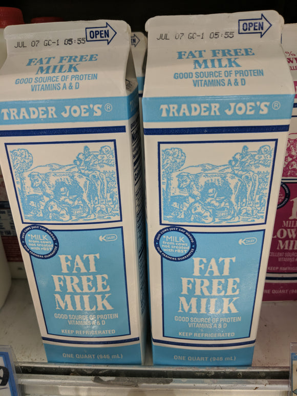 Trader Joe's Milk (Fat Free)