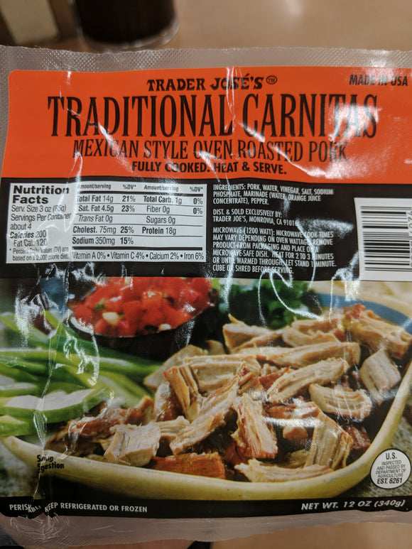 Trader Joe's Traditional Carnitas (Mexican Style Oven Roasted Pork)