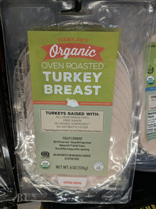 Trader Joe's Organic Oven Roasted Sliced Turkey Breast