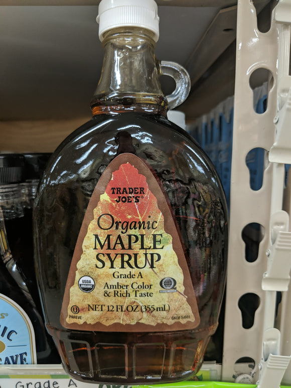 Trader Joe's Organic Maple Syrup (Amber Color)