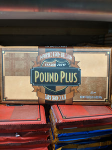Trader Joe's Pound Plus Dark Chocolate Bar