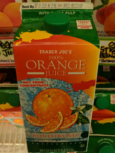 Trader Joe's 100% Pure Florida Orange Juice (Extra Pulp)