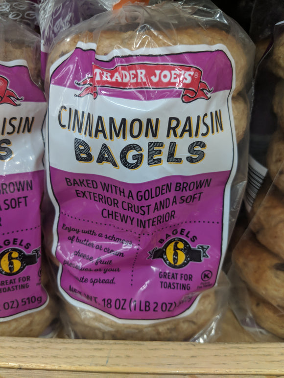 Trader Joe's Cinnamon Raisin Bagels (6 Count)