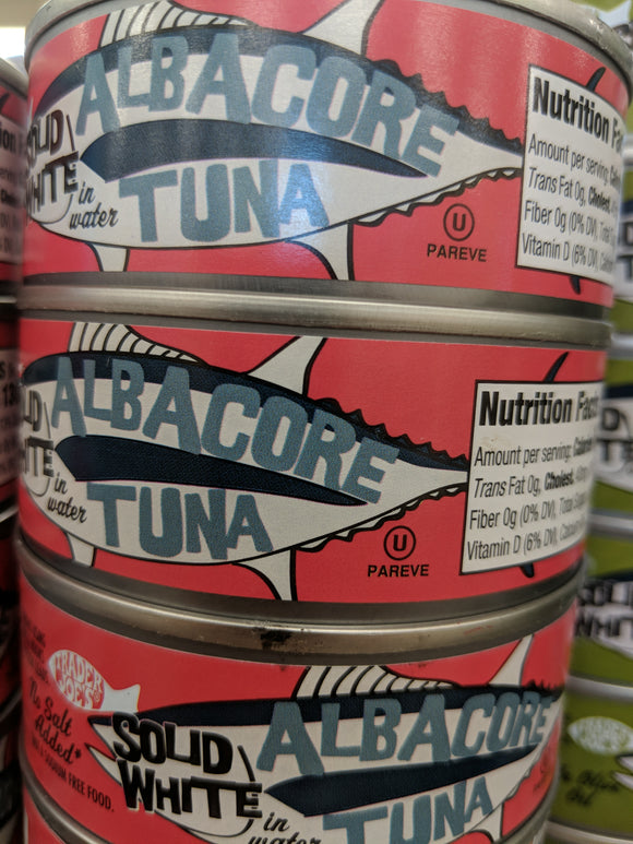Trader Joe's Albacore Solid White Tuna - No Salt
