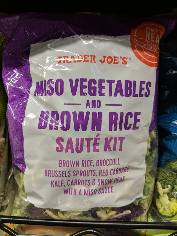 Trader Joe's Miso Vegetables and Brown Rice Saute Kit