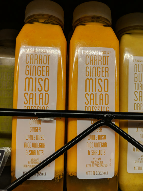 Trader Joe's Carrot Ginger Miso Salad Dressing