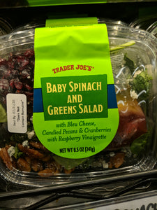 Trader Joe's Baby Spinach and Greens Salad