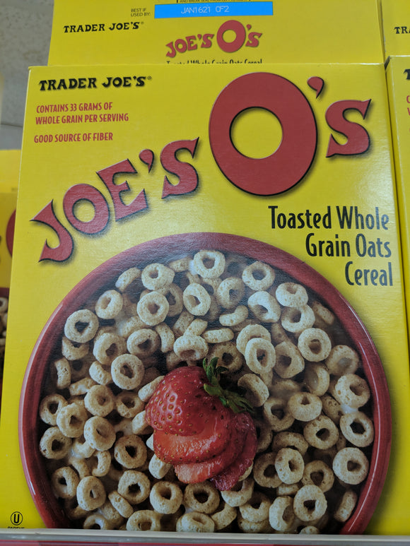 Trader Joe's Joe O's Toasted Whole Grain Oats Cereal