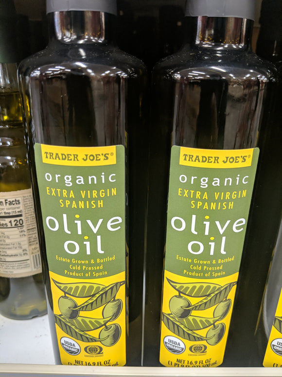 Trader Joe's Organic Spanish Extra Virgin Olive Oil