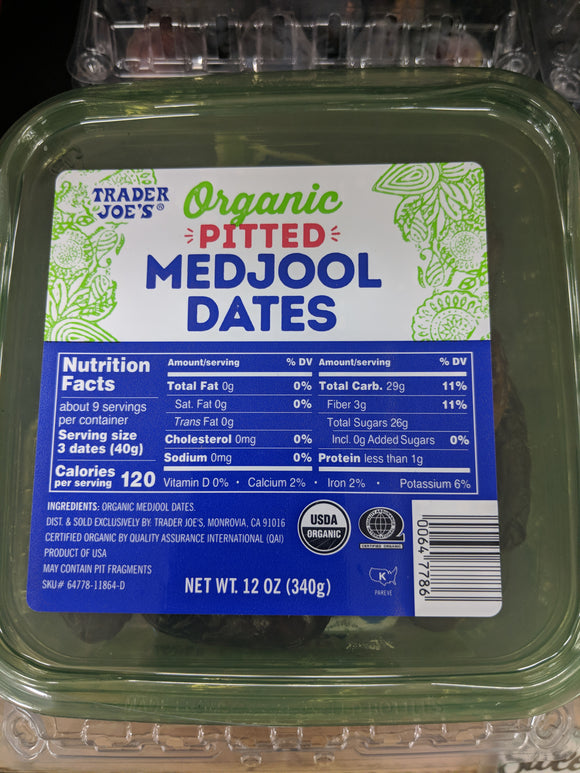 Trader Joe's Organic Pitted Medjool Dates