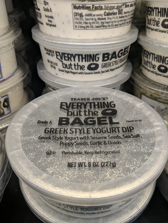 Trader Joe's Everything But The Bagel Greek Style Yogurt Dip