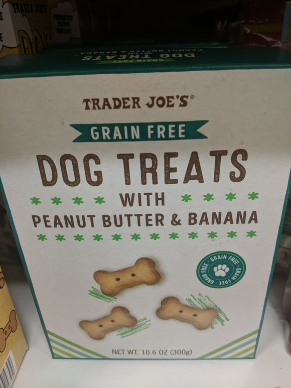 Trader Joe's Grain Free Dog Treats with Peanut Butter and Banana