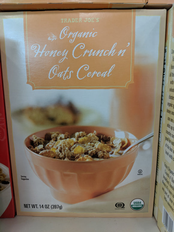 Trader Joe's Organic Honey Crunch and Oats Cereal