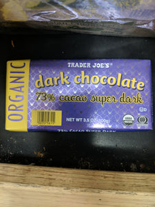 Trader Joe's Organic Dark Chocolate 73% Cocoa Bar