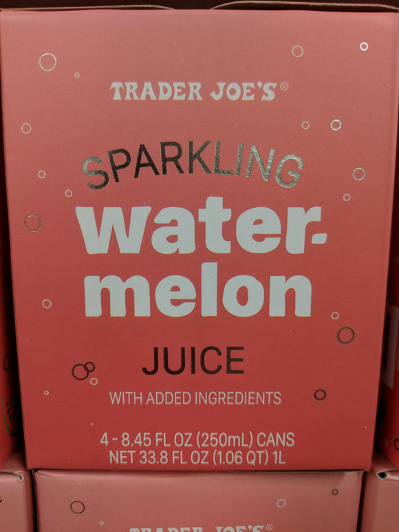 Trader Joe's Sparkling Watermelon Juice (4 pack)