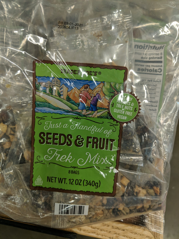 Trader Joe's Just a Handful of Seeds and Fruit Trek Mix