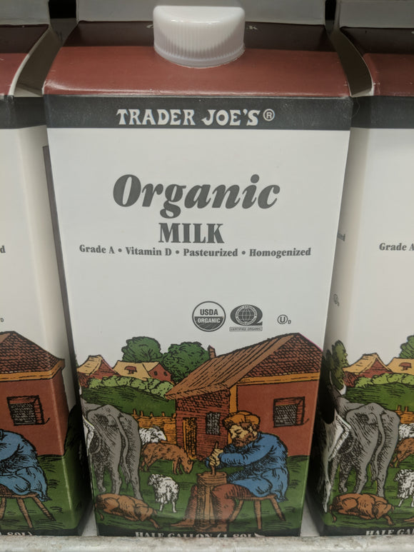 Trader Joe's Organic Milk (Whole, half gallon)