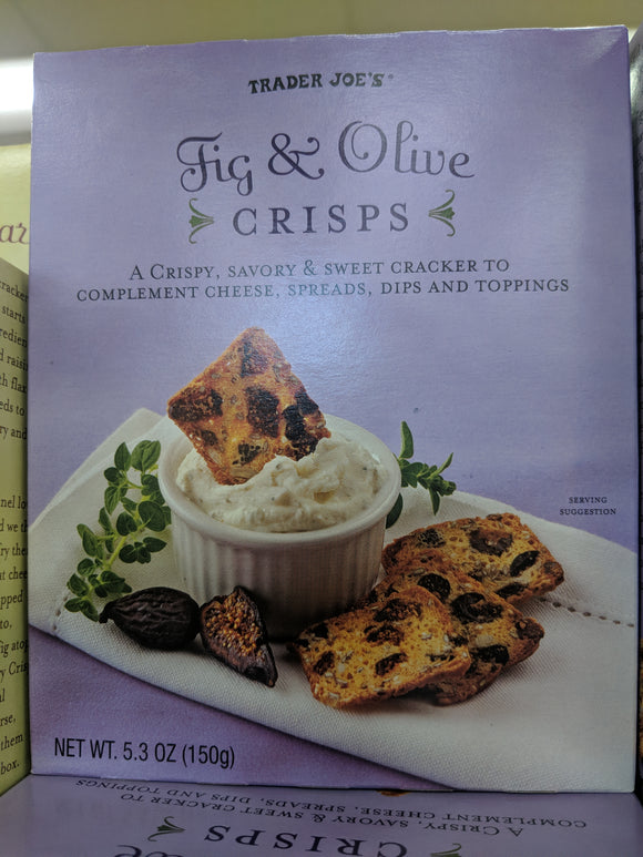 Trader Joe's Fig and Oliver Crisps