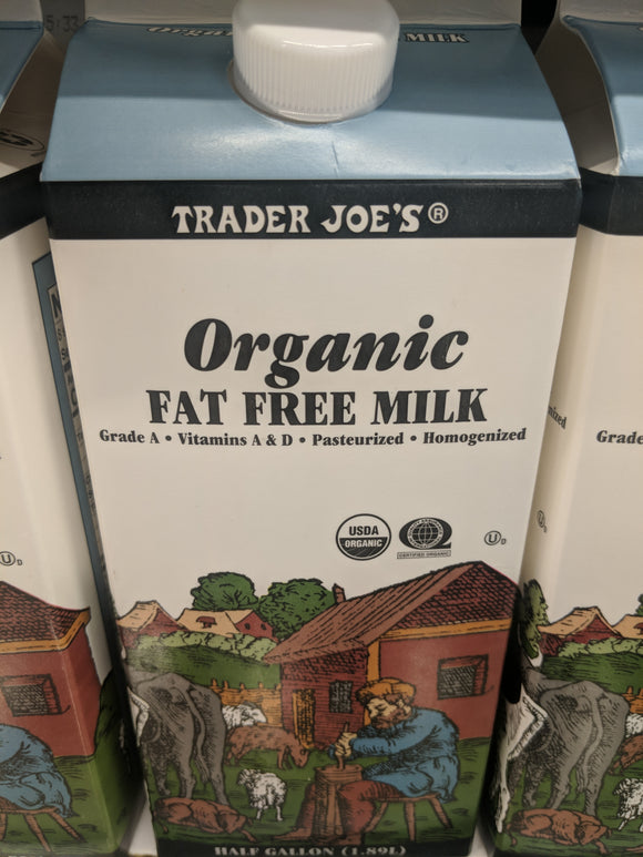 Trader Joe's Organic Milk (Fat Free)