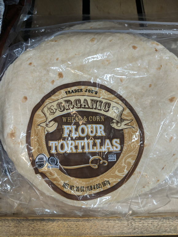 Trader Joe's Organic Whole Wheat and Corn Tortillas (10 Count)