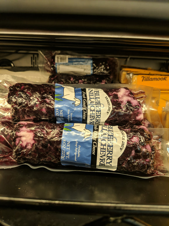 Trader Joe's Blueberry Vanilla Chevre Goat Cheese Log