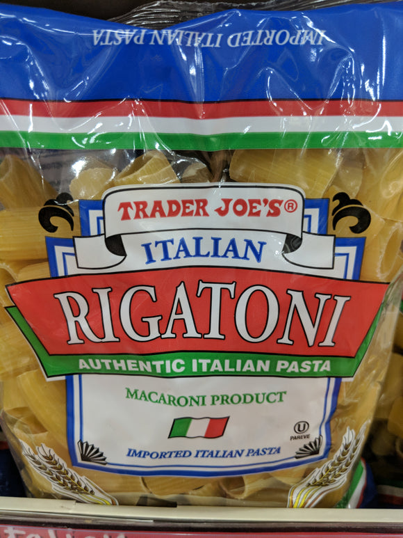 Trader Joe's Rigatoni Authentic Italian Pasta