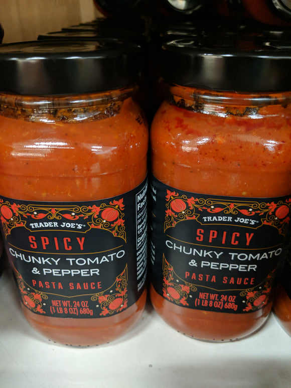 Trader Joe's Spicy Chunky Tomato & Pepper Pasta Sauce