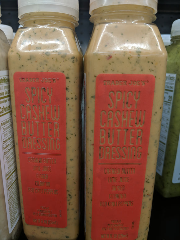 Trader Joe's Spicy Cashew Butter Salad Dressing