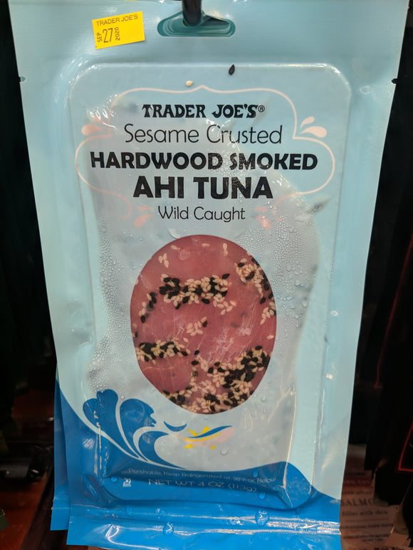 Trader Joe's Sesame Crusted Hardwood Smoked Ahi Tuna (Wild Caught)