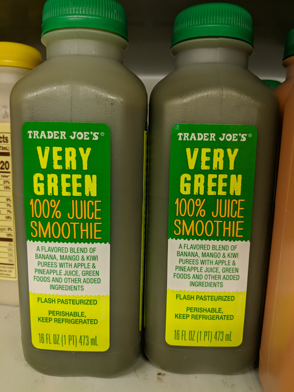 Trader Joe's Very Green 100% Juice Smoothie