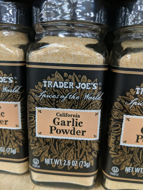 Trader Joe's California Garlic Powder  (Spices of the Wold)