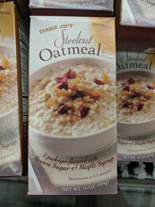 Trader Joe's Steelcut Oatmeal (Frozen, flavored with Brown Sugar and Maple) (2 Packages)