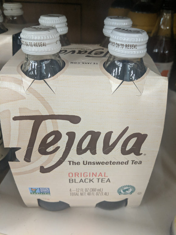 Trader Joe's Tejava (Premium Iced Tea, Handpicked, Microbrewed, Unsweetened) 4 pack