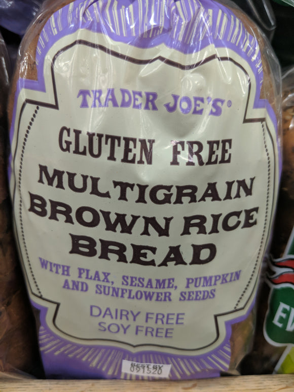 Trader Joe's Gluten Free Multigrain Brown Rice Sandwich Bread