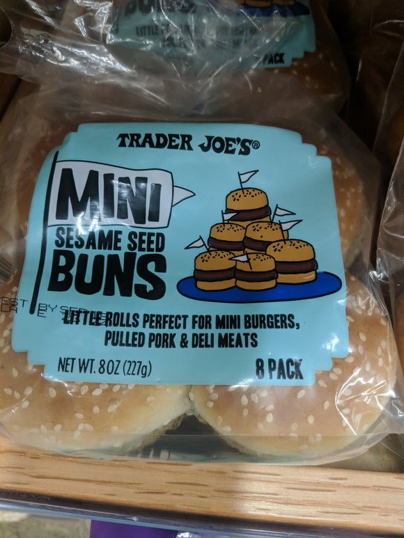 Trader Joe's Mini Hamburger Buns (8 Count)