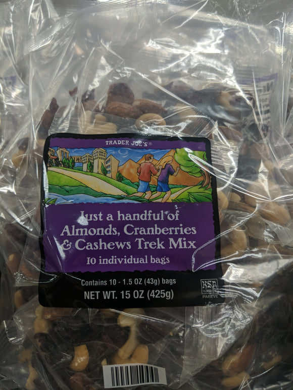 Trader Joe's Just a Handful of Almonds, Cranberries, and Cashews Trek Mix