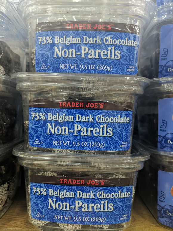 Trader Joe's 73% Dark Belgian Chocolate Nonpareils