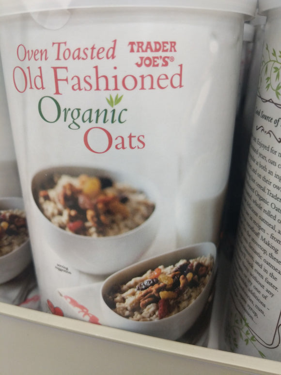 Trader Joe's Organic Oven Toasted Oats (Old Fashioned)