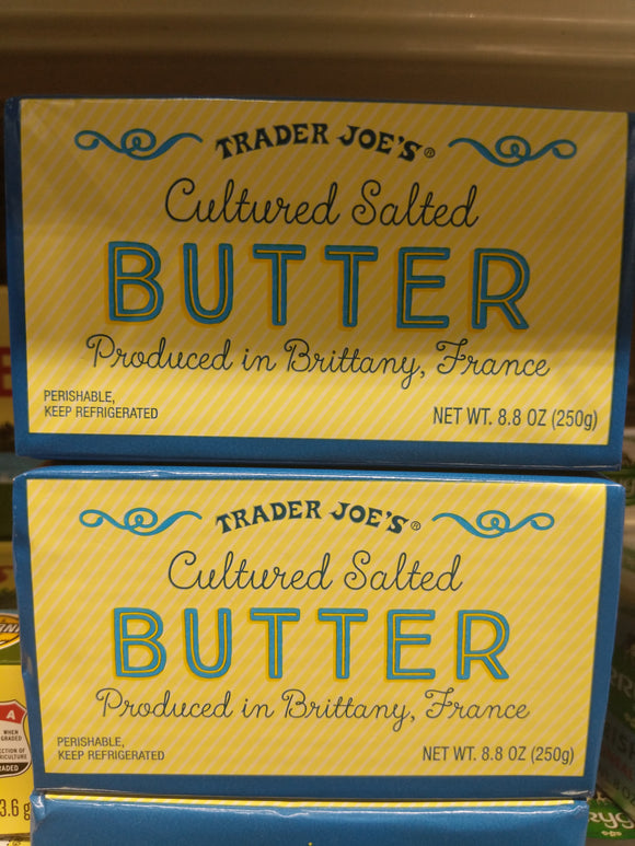 Trader Joe's Cultured Salted Butter Quarters (Produced in Brittany, France)