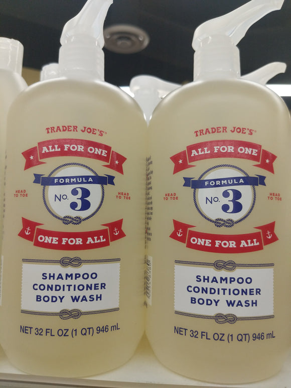 Trader Joe's All for One One for All Shampoo, Conditioner and Body Wash