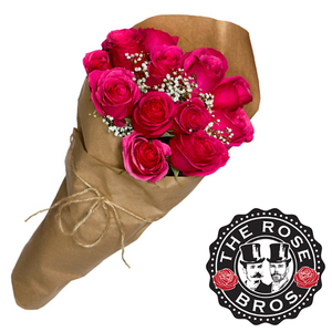 12 Stem Pink Rose Bouquet