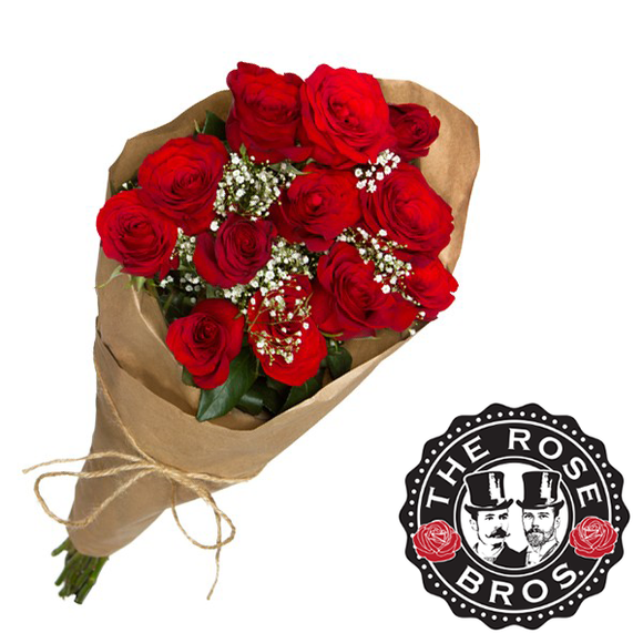 12 Stem Red Rose Bouquet