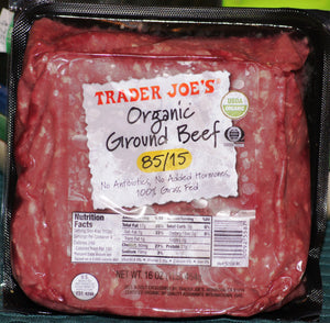 Trader Joe's Organic 85/15 Grass Fed Ground Beef