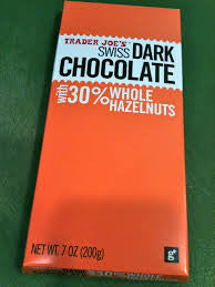 Trader Joe Swiss Dark Chocolate w/ Whole Hazelnuts