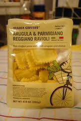 Trader Joe's Arugula and Parmesan Ravioli